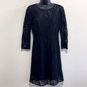 Madewell Broadway & Brooms Black Lace Dress Size 2